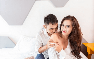 couple getting ready for sex