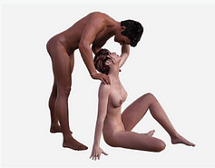 naked man and woman